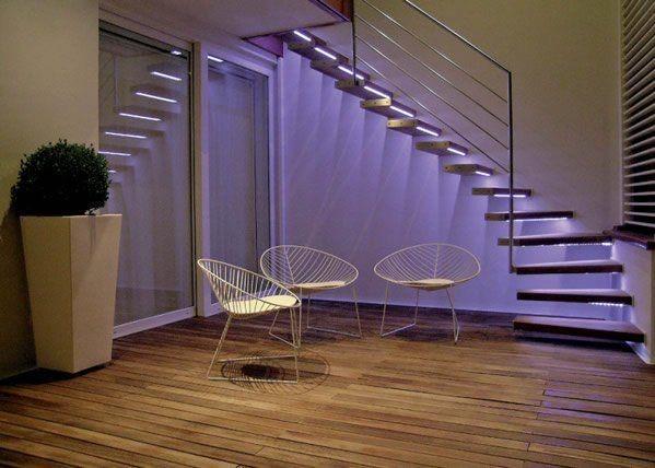 Haz que las escaleras sean las protagonistas de tu hogar - Iluminacion led escaleras ...